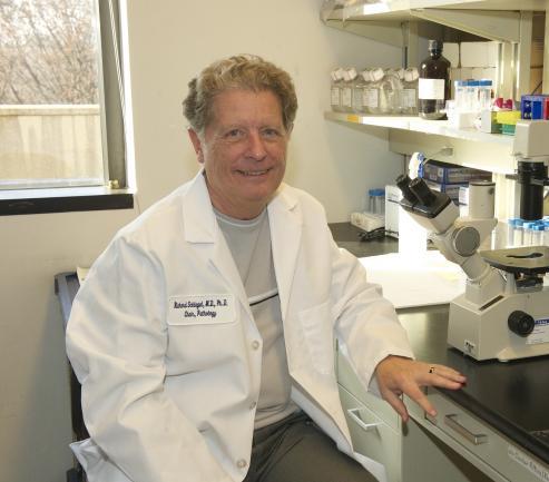 Richard Schlegel in the lab