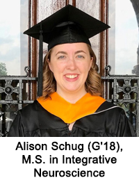 Alison Schug (G'18), M.S. in Integrative Neuroscience