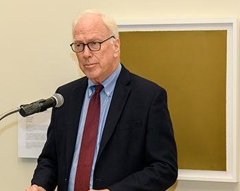 Edward B. Healton speaks at a podium