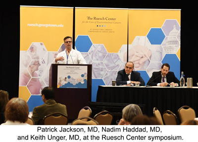 Patrick Jackson, MD, Nadim Haddad, MD, and Keith Unger, MD, at the Ruesch symposium.