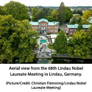 Aerial view from the 68th Lindau Nobel Laureate Meeting in Lindau, Germany.