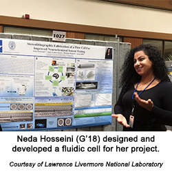 Neda Hosseini (G'18) prototyped a fluidic cell for her project.