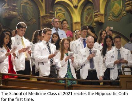 Students recite the Hippocratic Oath