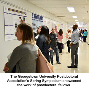 The Georgetown University Postdoctoral Association's Spring Symposium showcased the work of postdoctoral fellows.
