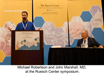 Michael Robertson and John Marshall, MD, at the Ruesch symposium.