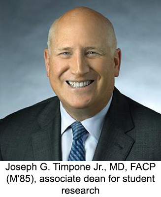 Joseph G. Timpone Jr., MD, FACP (M'85), associate dean for student research