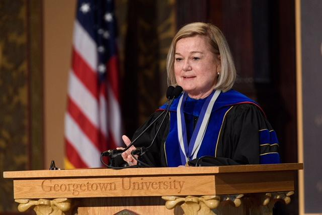 Barbara M. Bayer, PhD at Georgetown University Spring 2018 Faculty Convocation.