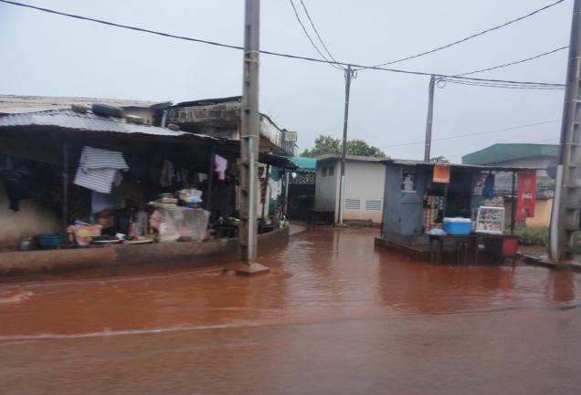 Photo of flood in Guinea