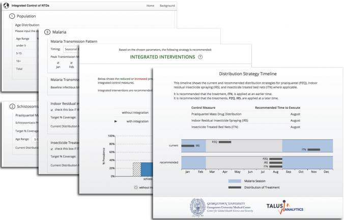 A collection of screen-captured images from a decision support tool for use by public health practitioners to support evidence-based integration of disease control.