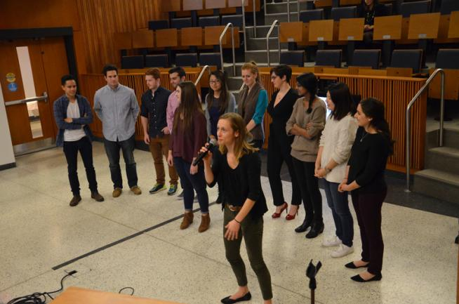 """Students performing at the second-annual """"What Makes You?"""", an event organized by the Office of Diversity and Inclusion and Georgetown Arts and Medicine."""