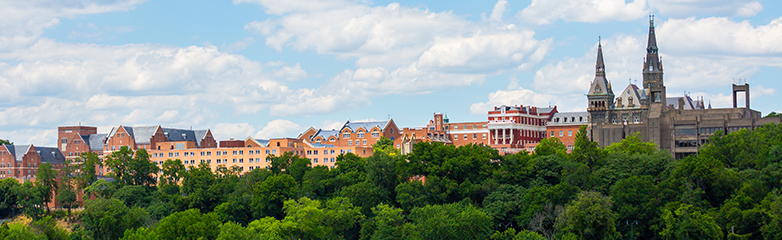 A far off view of Georgetown University campus