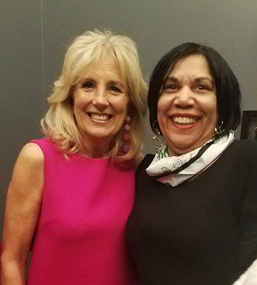 Jill Biden and Sylvia Jackson