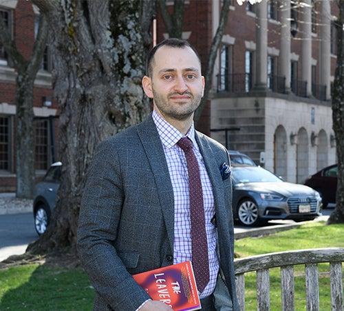 Daniel Marchalik, MD, pictured in front of the Med-Dent building