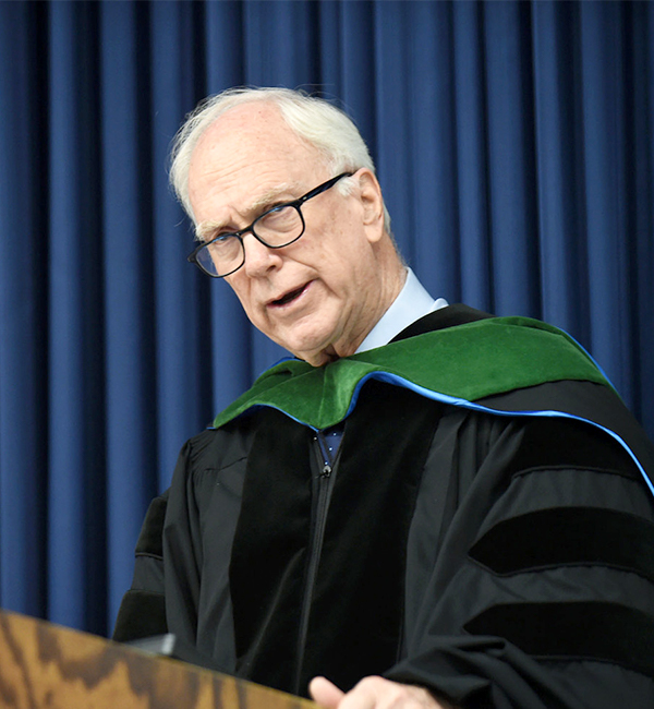 Dr. Healton speaks in academic regalia