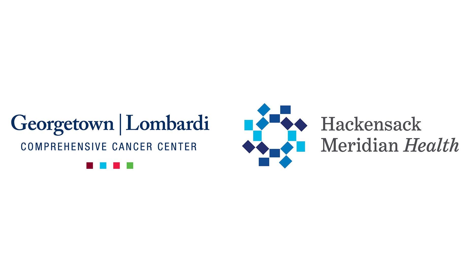 Georgetown Lombardi and Hackensack Meridian Health logos