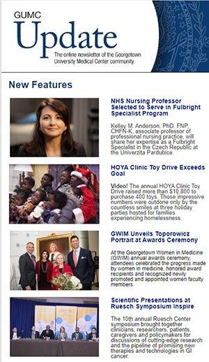 GUMC Update newsletter image for Dec. 15, 2019