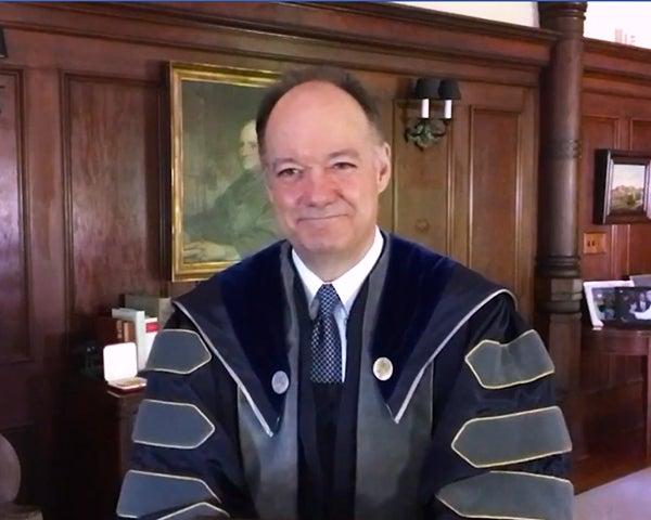 John J. DeGioia in academic regalia