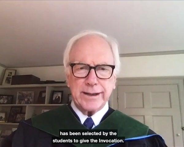 Edward Healton in academic regalia