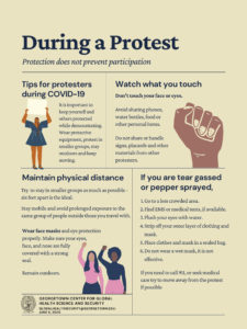 """Thumbnail of flier titled """"During a Protest"""""""