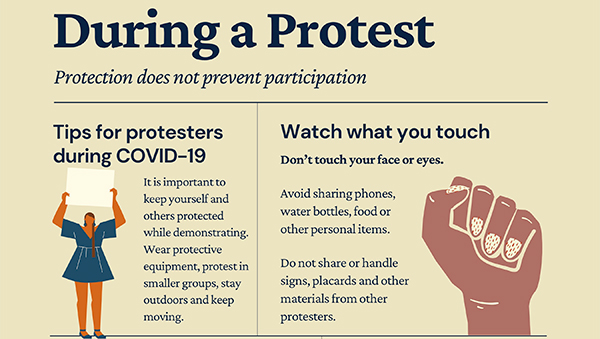 Thumbnail view of During a Protest flier for decorative purposes
