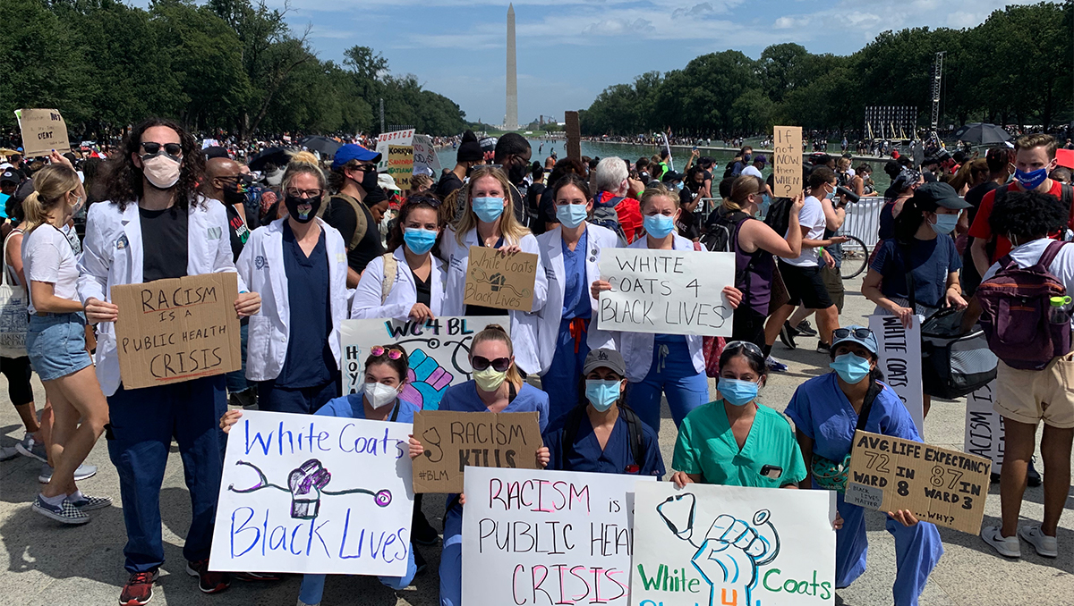 Group of medical students at the March on Washington