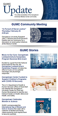 GUMC Update thumbnail for 2/15/21 issue used for decorative purposes