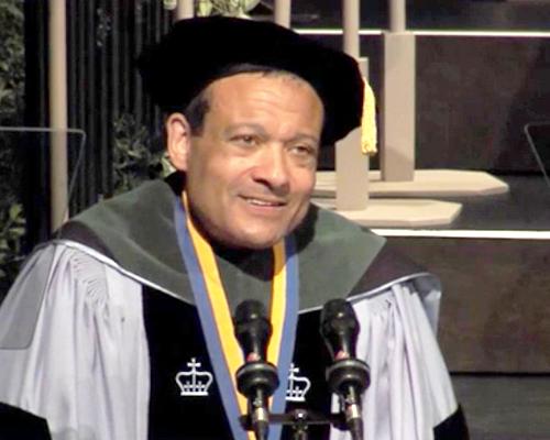 Dr. Jones in academic regalia
