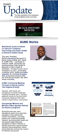 GUMC Update thumbnail for 2/28/21 issue used for decorative purposes