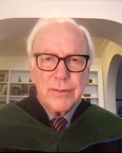 Edward Healton in a Zoom screenshot