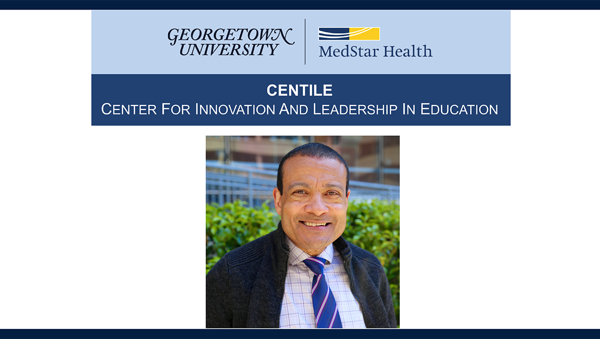 A headshot of Dr. Lee Jones appears with the logos for the MedStar Georgetown Research Symposium