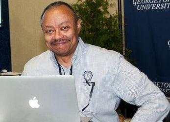 Raphael Terranus at a computer